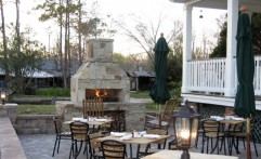 Courtyard Stone Fireplace